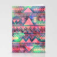 techno Stationery Cards featuring Techno Native by Schatzi Brown