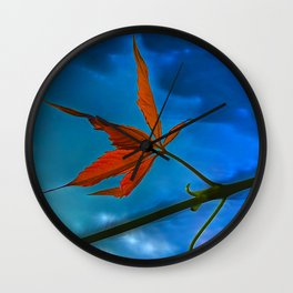 The sprouts of maiden grapes Wall Clock