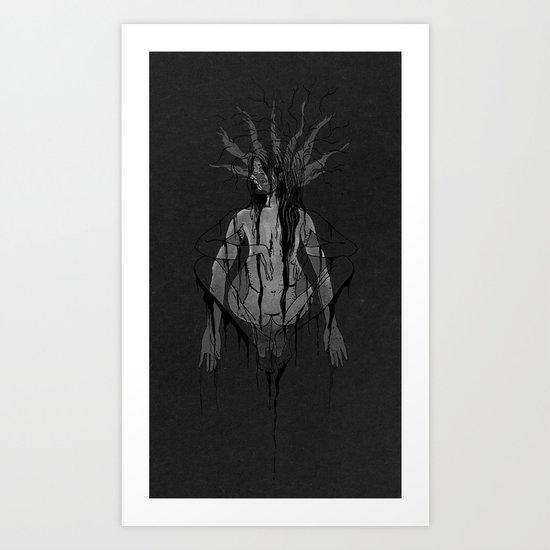 Schizophoned Art Print