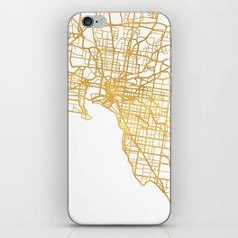 MELBOURNE AUSTRALIA CITY STREET MAP ART iPhone Skin