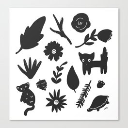 Bits & Pieces Canvas Print