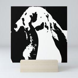 Black & White English Lop Mini Art Print
