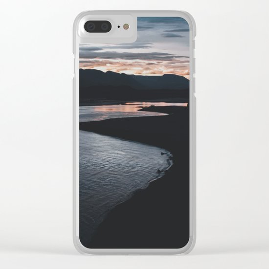 Sunrise in Iceland Clear iPhone Case