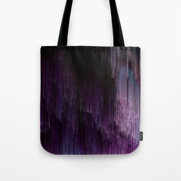 Darkness Glitches Out - Abstract Pixel Art Tote Bag