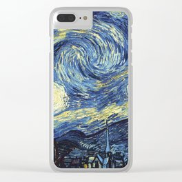 Van Gogh Starry Night Clear iPhone Case