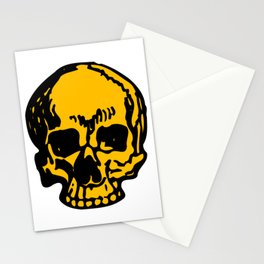 24K Gold Pirate Skull, Vibrant Skull, Super Smooth Super Sharp 9000px x 11250px PNG Stationery Cards