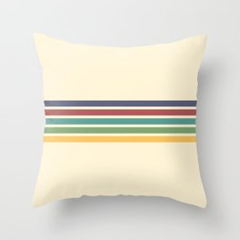 Rainbow Stripes III Throw Pillow