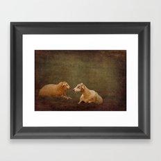 The smiling Sheeps Framed Art Print