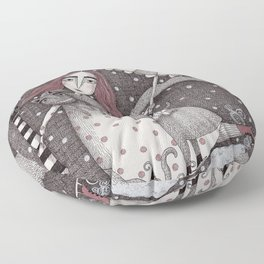 Alice's First Snow Floor Pillow