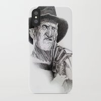 freddy krueger iPhone & iPod Cases featuring Freddy krueger nightmare on elm street by calibos