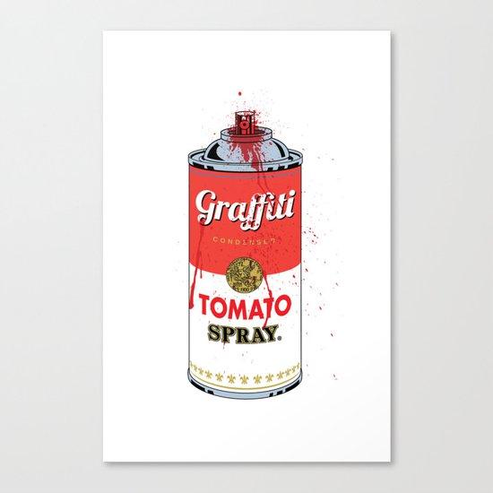 Graffiti Tomato Spray Can Canvas Print