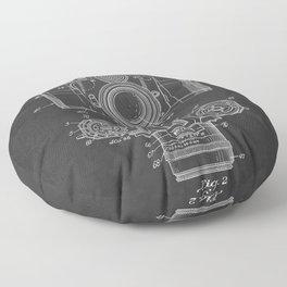 Vintage Camera Patent Chalkboard Floor Pillow