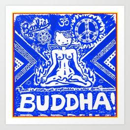 Buddha Kitty Art Print