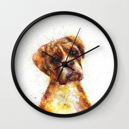 Dog Abstract watercolour prints Wall Clock