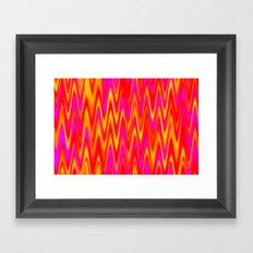 WAVY #1 (Reds, Oranges, Yellows & Fuchsias) Framed Art Print