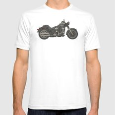 Fat Boy Toy White MEDIUM Mens Fitted Tee
