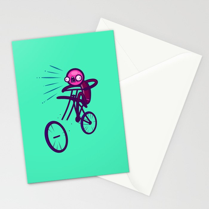 Cycling Disaster Stationery Cards