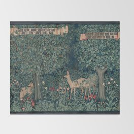 William Morris Greenery Tapestry Throw Blanket
