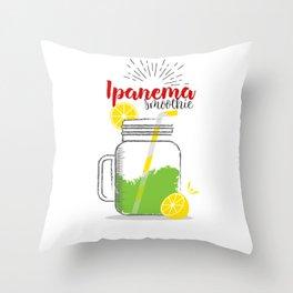 Ipanema: Summer, sun, sea & smoothies Throw Pillow