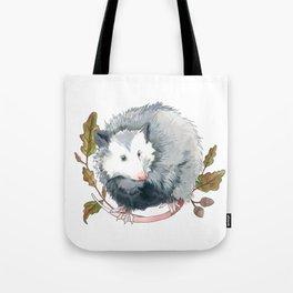 Possum and Oak Leaves Tote Bag