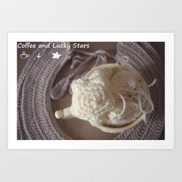 Coffee and Lucky Stars Art Print