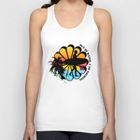 surfing Tank Tops featuring Surfing by mark ashkenazi