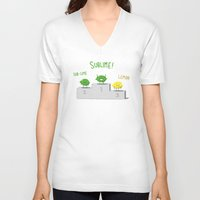 sublime V-neck T-shirts featuring Sublime! by Caphastrotes