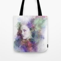lydia martin Tote Bags featuring Lydia Martin by NKlein Design