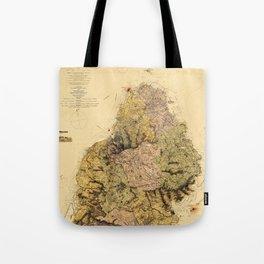 Map Of Mauritius 1880 Tote Bag