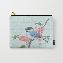 Blue Chickadee Carry-All Pouch