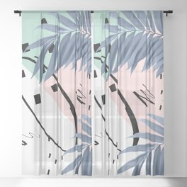 Summer Palms Cali Vibes Abstract Glam #1 #tropical #decor #art #society6 Sheer Curtain