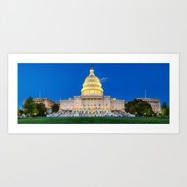 U.S.Capitol Panorama 1 Art Print