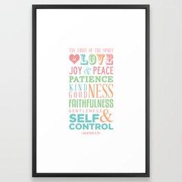 Galatians 5:22 Framed Art Print
