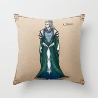 valar morghulis Throw Pillows featuring Ulmo by wolfanita