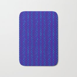 Blue Scissor Stripes Bath Mat