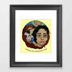 evening and everywhere after Framed Art Print