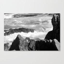 rocky shore photography landscape Canvas Print