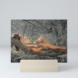 Naked in the Forest Mini Art Print