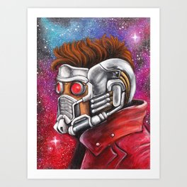 Galaxy Hero Art Print