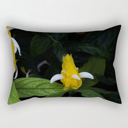 Golden shrimp plant. Flowers. Rectangular Pillow