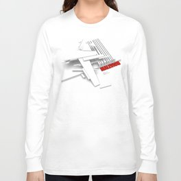 Malevich 3D [B&W] Long Sleeve T-shirt