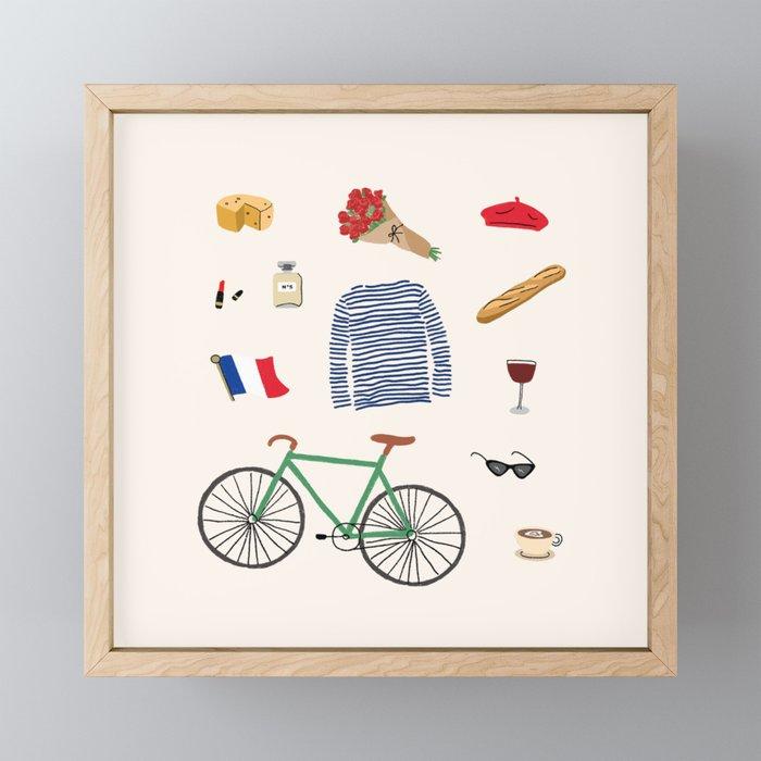 Paris, or Wherever We Are Framed Mini Art Print
