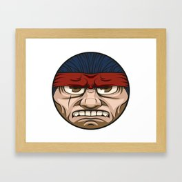 Tough Face Framed Art Print