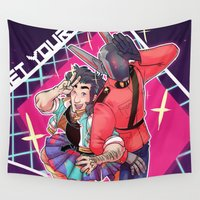 80s Wall Tapestries featuring 80s Fashion by kami dog
