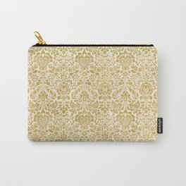 Gold Damask Pattern Carry-All Pouch