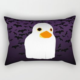 Fuzzy Duck Ghost Rectangular Pillow