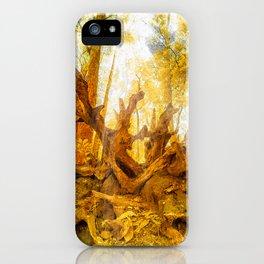 Golden branch iPhone Case