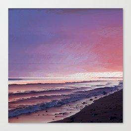 Maui Sunset Pixel Sort Canvas Print