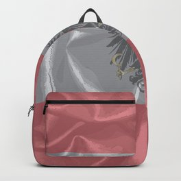 Silk Austrian Flag and Coat of Arms Backpack
