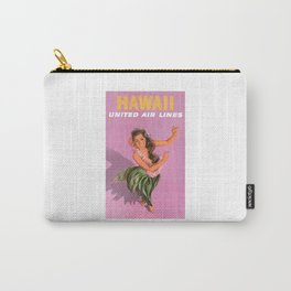 1960 Hawaii Hula Dancer United Airlines Travel Poster Carry-All Pouch